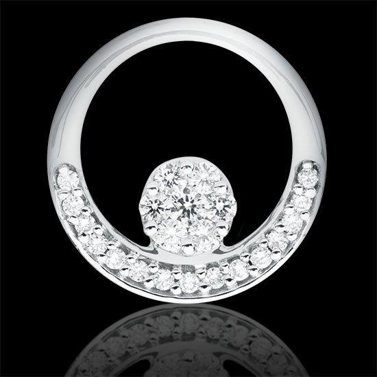 Colgante. Oro blanco 18K<br />