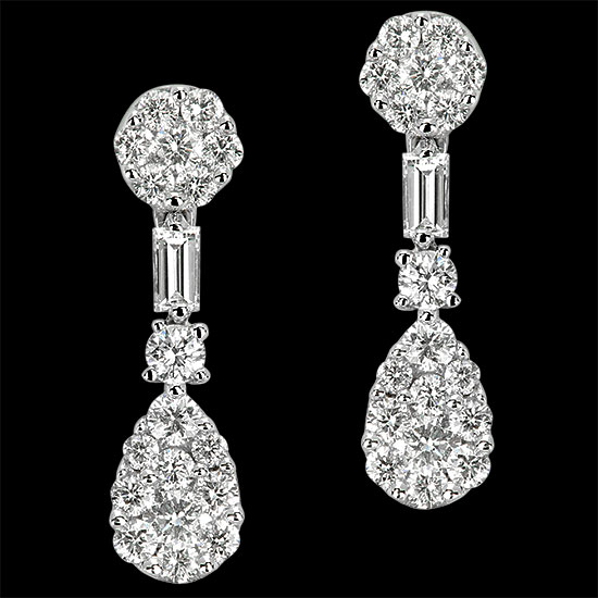 Pendientes. Oro blanco 18K<br />
