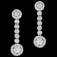 Pendientes. Oro blanco 18K