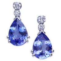 Pendientes. Oro blanco 18K.
