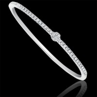 Pulsera. Oro blanco 18K