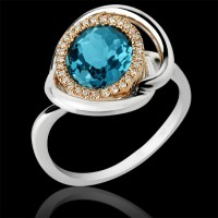 Sortija. Oro blanco y oro rosa 18K